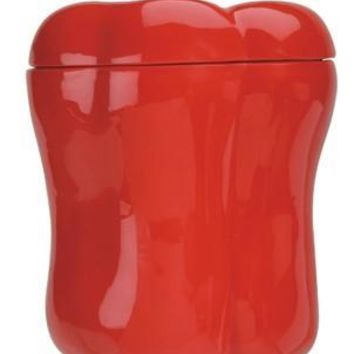 Red Bell Pepper Ceramic Canister