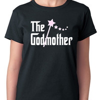 The Godmother T-Shirt for all the proud godmothers out there, godsons, goddaughters, gift shirt, in black or white 100% cotton short sleeve
