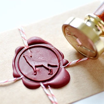 Howling Wolf Gold Plated Wax Seal Stamp x 1 by BacktoZero on Etsy