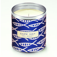 Kate's Navy Blue Striped Fish Candle