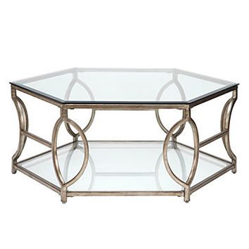Brooke Hexagonal Coffee Table | Regal Refinement | Living Room | Inspiration | Z Gallerie
