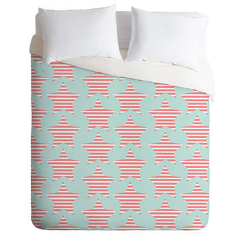 Allyson Johnson Stripes And Stars Duvet Cover