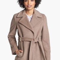 Calvin Klein | Calvin Klein Notch Collar Wrap Coat | Nordstrom Rack