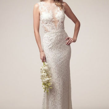 KCW1550 Diamond White Lace Wedding Dress by Kari Chang Eternal