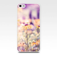 iphone 6 case floral iphone case 5s daisy iphone case 5 girly iphone case 4s flowers iphone case 4 lilac gold yellow pink nature iphone case