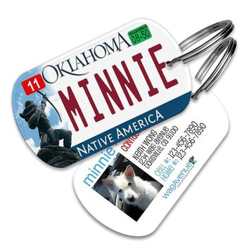 Oklahoma License Plate Pet Tag