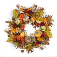 Fall Pumpkin Power Wreath