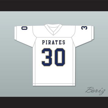 Bobby Bruce 30 Independence Community College Pirates White Football Jersey