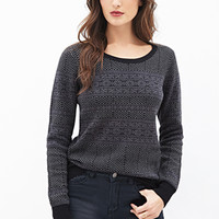 LOVE 21 Fair Isle Crew Neck Sweater