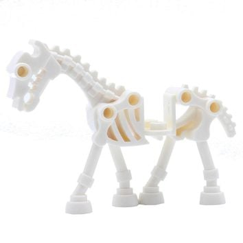 White Skeleton Horse Bricks Single Sale Suit for Game of Thrones Marvel Super Heroes Building Blocks Set Model Bricks Toys Gifts