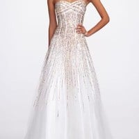 Strapless Heavily Sequin Prom Dress - David's Bridal