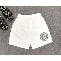Versace 2019 new avatar print casual beach shorts white