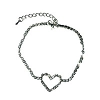 Crystal Heart Anklet