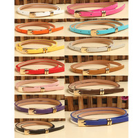 Aliexpress.com : Buy Hot Sale Fashion Lady Multicolor Synthetic Leather Waistband Thin Skinny Belt Buckle Strap Drop Shipping WF Belt 0049 from Reliable strap steel suppliers on Orange5689 Fashion