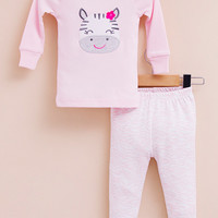 2-piece snug fit cotton pajama - Cow