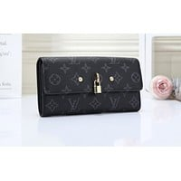 LV Hot Selling Lady's Colour-matched Printed Small Wallet Handbag Black pattern