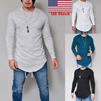Men's Long Sleeve T-shirt Tee