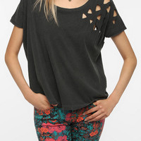 Urban Outfitters - Truly Madly Deeply Laser-Cut Shoulder Tee
