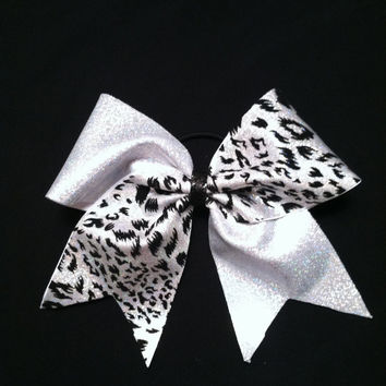 Cheetah Tick-Tock Cheer Bow