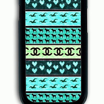 Samsung Galaxy S3 Case - Rubber (TPU) Cover with red hollister seagulls chanel sign hearts stripes Rubber Case Design