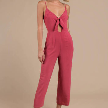 Woman Renegade Tie-Front Jumpsuit