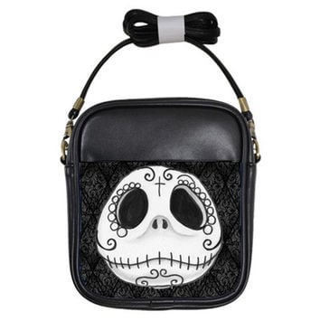 Sugar Skull Jack Skellington shoulder sling purse