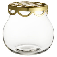 Glass Vase with Metal Lid - from H&M