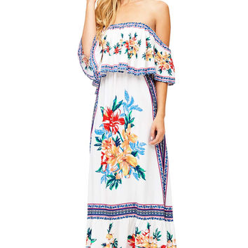 Island Hibiscus Maxi Dress