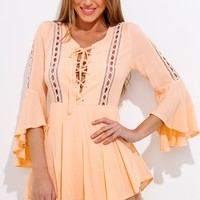 The Thrill Playsuit Orange