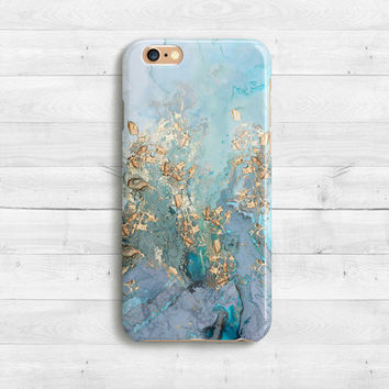 Gold Blue Marble Case, iPhone SE, iPhone 6s, 6s plus iPhone 7 case,7 plus iPad Mini iPhone 5c , Samaung Galaxy S6, S7 Watercolor Marble Case