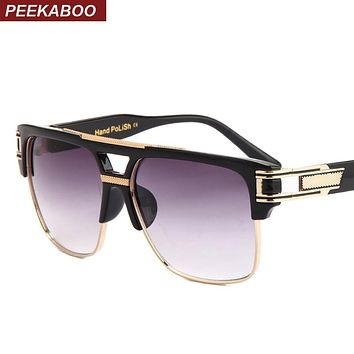 Big Square Semi Rimless Sunglasses