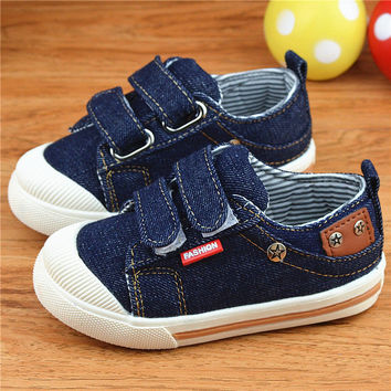 2017 Canvas Children Shoes Sport Denim Breathable Toddlers Sneakers Chaussure Enfant Boys Girls ninos Casual Walk Flat Shoe