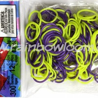 Neon Yellow n Royal Purple (Limited Edition) | Rainbow loom
