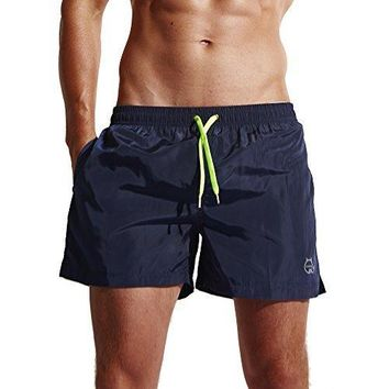 LJCCQ Men's Shorts Swim Trunks Quick Dry Beach Shorts With Pockets For Surfing Running Swimming Watershort