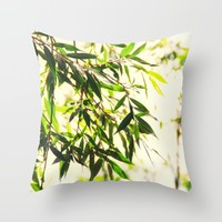 Bamboo for relaxation Throw Pillow by Tanja Riedel | Society6