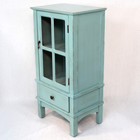 Heather Ann Wooden Cabinet with Glass Insert