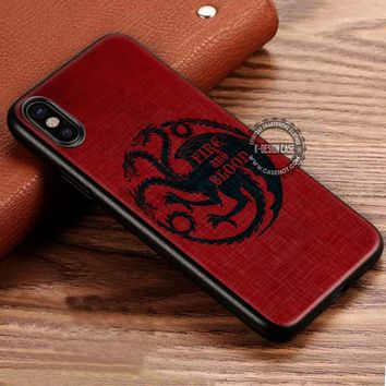 The Dragons Fire and Blood Game of Thrones iPhone X 8 7 Plus 6s Cases Samsung Galaxy S8 Plus S7 edge NOTE 8 Covers #iphoneX #SamsungS8