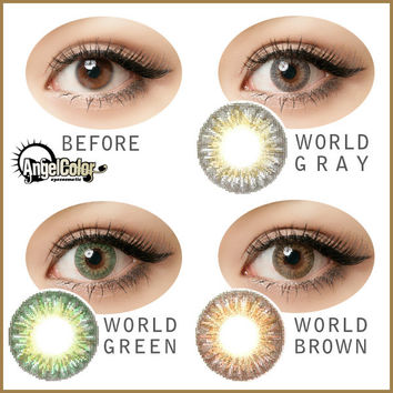 GEO Tri Color World Series Circle Lenses Colored Contacts Cosmetic Color Circle Lens