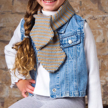 JPG Knitting Pattern for Girl/Boy deliciousy soft with easy stripes chic style cap and scarf