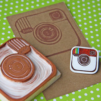 Instagram -Shrink Plastic Brooch-