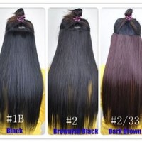 Fashionable Kanekalon Long Straight Synthetic Full Head Clip in Hair Extensions Ch011-2