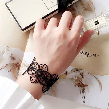 Fashion Summer Wrist Band Cuff Bracelet Sexy White/Black Lace Bracelet Tattoo Choker Necklace Gothic Jewelry For Women