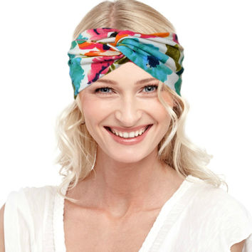 Large Floral Classic Chic Turban Headband {Wanderlust Collection}