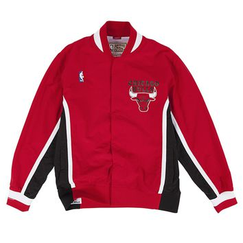 1992 Chicago Bulls Red Mitchell and Ness Vintage NBA Warm Up Jacket