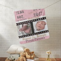 First Photos Film Strip Personalized Baby Blanket