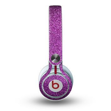 The Purple Glitter Ultra Metallic Skin for the Beats by Dre Mixr Headphones