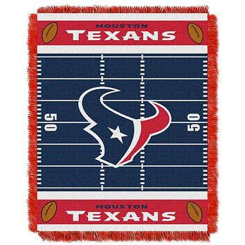 "Houston Texans NFL Field Baby 36""x 46"" Triple Woven Jacquard Throw"