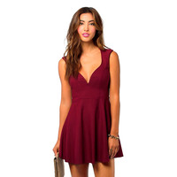 Sweetheart Skater Dress with Keyhole Back