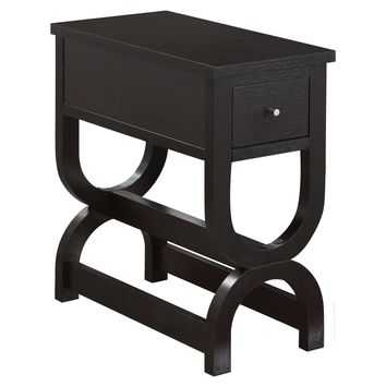 Accent Table - Cappuccino With A Drawer