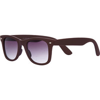 River Island MensRed rubberised retro sunglasses
